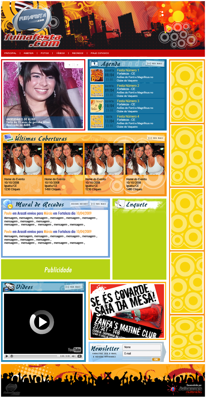 Novo Layout do site Fuinafesta.com