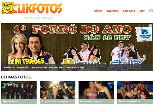 Novo Site ClikFotos.