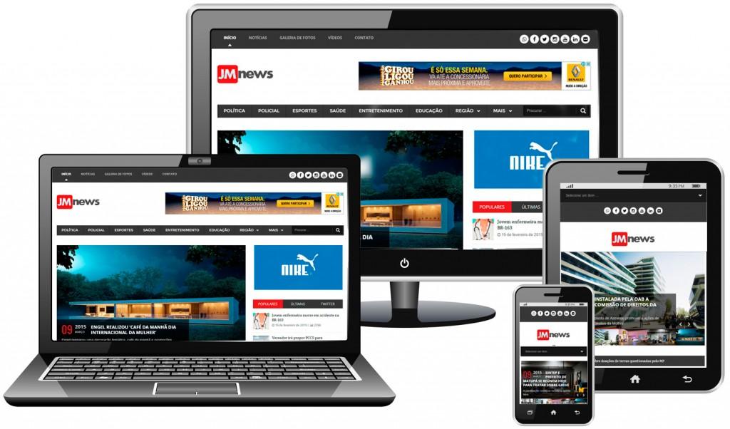 Comprar site de notícias responsivo